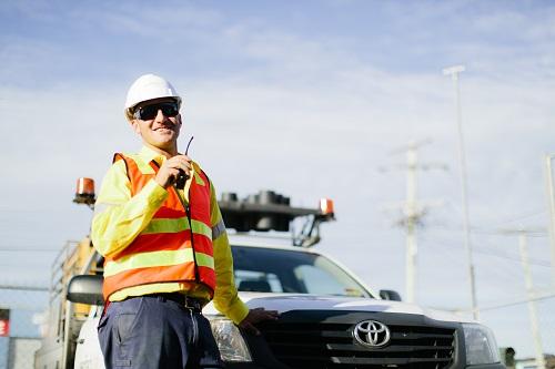 Traffic control communication training.