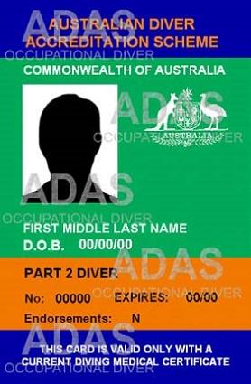 Australian Diver Accreditation Scheme front