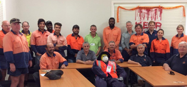 Jed with the team at sugar Research Australia