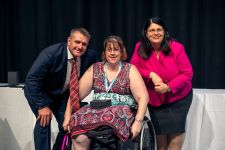 Jessica McDowell with Minister and Shane Webcke