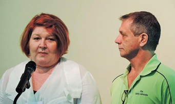 Julie and Don talking to FNQ Safety Group