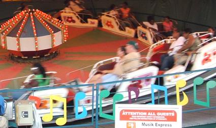 A Raupen Bahn amusement ride