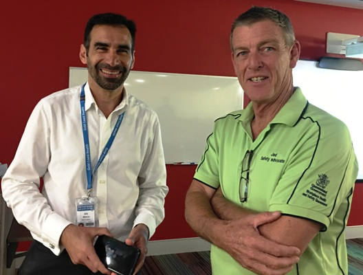 Jed with Ivo Martinac, Senior Director, Asset Management Services.