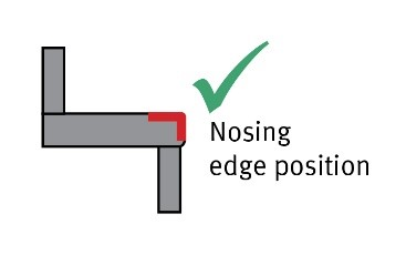 Nosing edge position