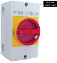 PVPower branded DC isolators