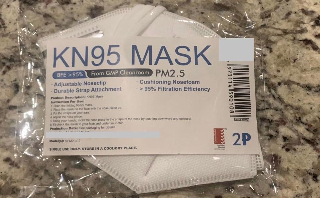 Photograph 1: Fake disposable respirator - a half-face disposable