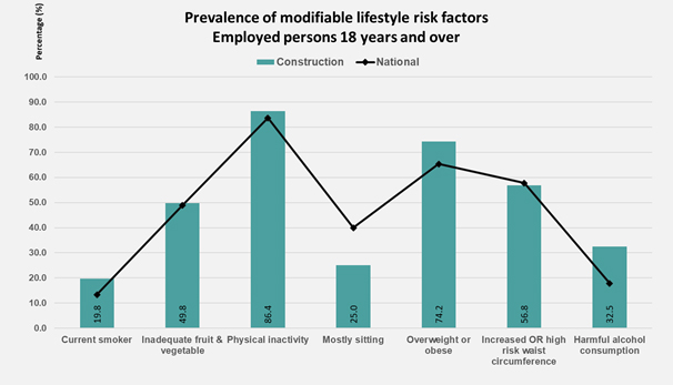 Lifestyle risk factors graph