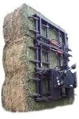 Big bales grabs attached to a telehandler