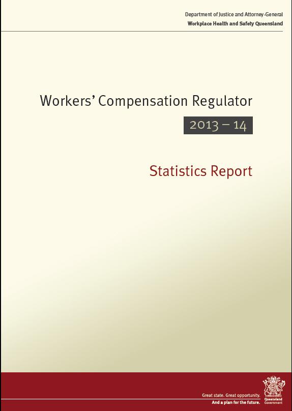 Workers Compensation Regulator Statistics Report 2013-2014 Front Cover