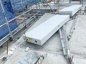 Photograph 1 - Pre-cast concrete panel after falling sideways