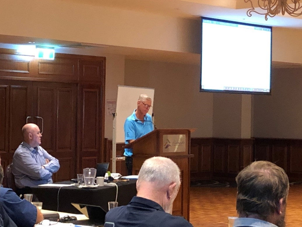 Dan presenting at Resources Safety and Health Queensland